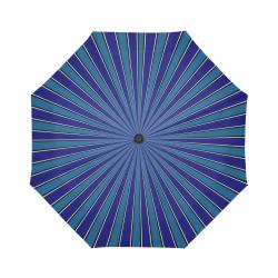 Classic Blue ZOOM Stripes Auto-Foldable Umbrella (Model U04)