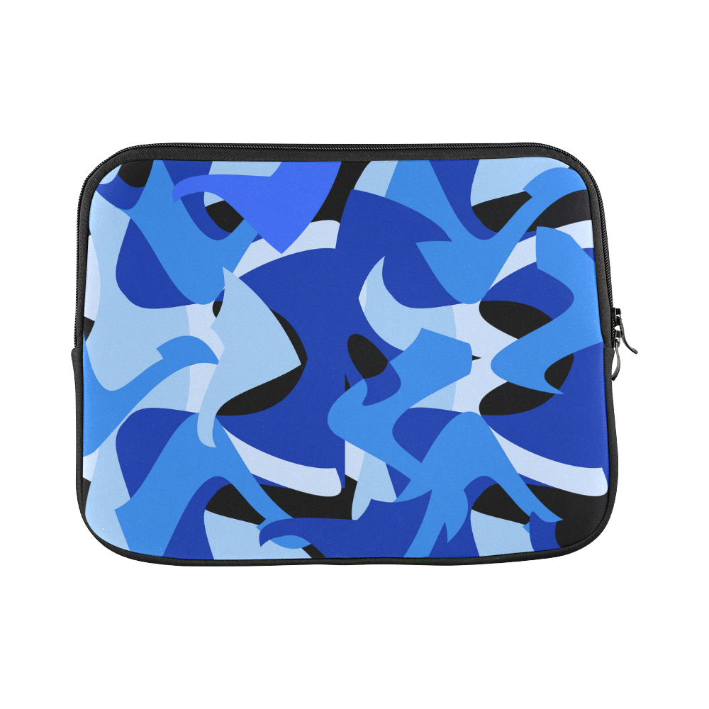 Camouflage Abstract Blue and Black Macbook Pro 13''