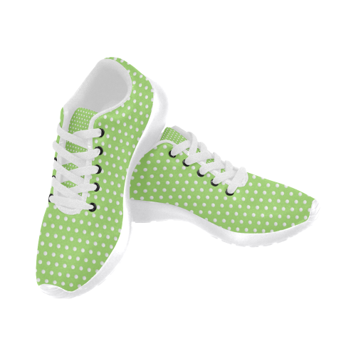 Polka Dot Pin Lime by Jera Nour Women's Running Shoes/Large Size (Model 020)
