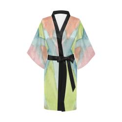 Pastel Stained Glass Kimono Robe
