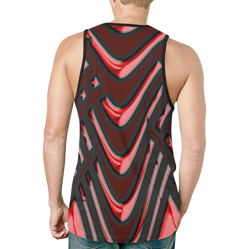 abstract_5500_2019_RBW_7h New All Over Print Tank Top for Men (Model T46)