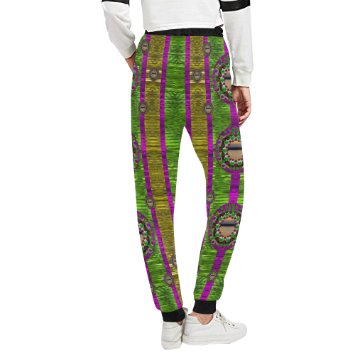 Sunset love in the rainbow decorative Women's All Over Print Sweatpants (Model L11)