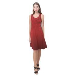 Autumn Maple Leaves Dresses Sleeveless Atalanta Casual Sundress(Model D04)