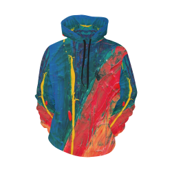 Wild Colorful Abstract Hoodie All Over Print Hoodie for Men (USA Size) (Model H13)