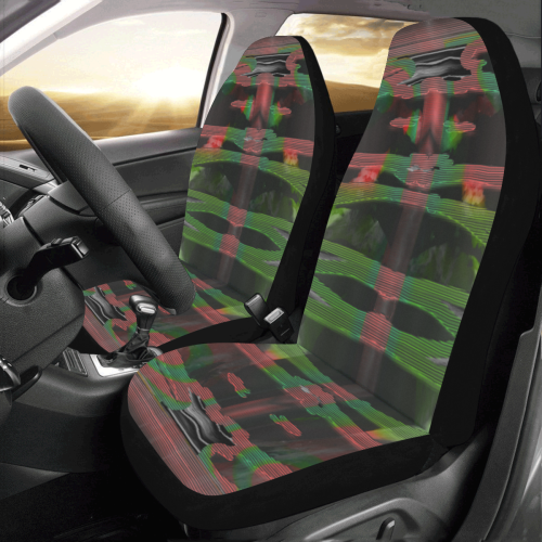 Green Deep Cage Crew Car Seat Covers (Set of 2)