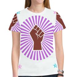 Pride New All Over Print T-shirt for Women (Model T45)