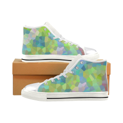 Sea Glass High Tops Women's Classic High Top Canvas Shoes (Model 017)