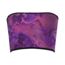 FD's Purple Marble Collection- Women's Purple Marble Badeau Top 53086 Bandeau Top