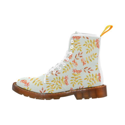 Fall Floral Pattern Martin Boots For Women Model 1203H