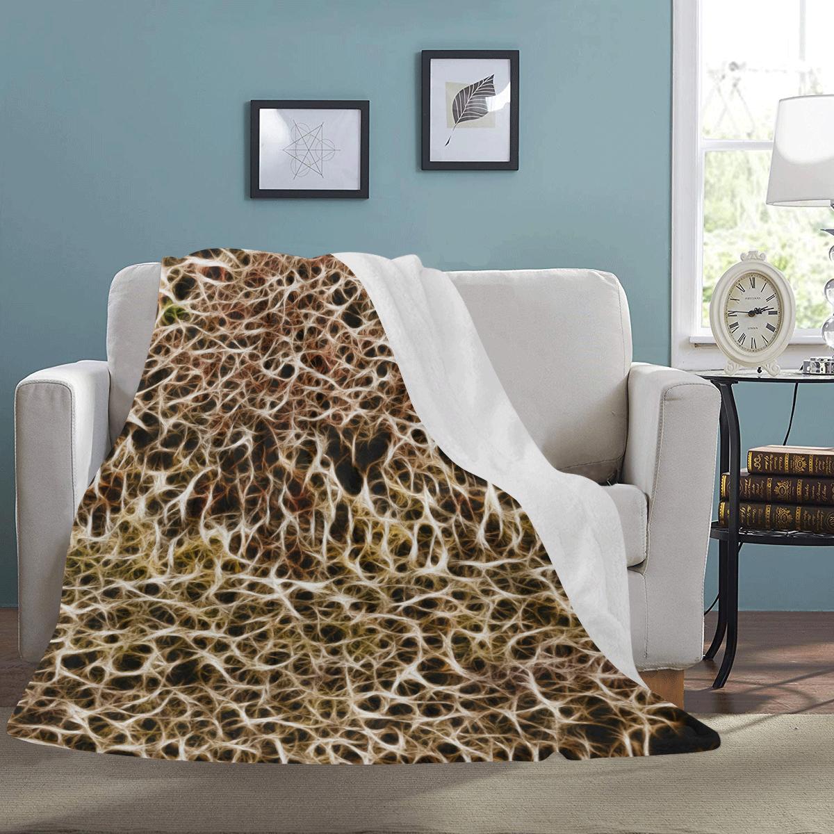 "Misty Fur Coral - Jera Nour Ultra-Soft Micro Fleece Blanket 60""x80"""