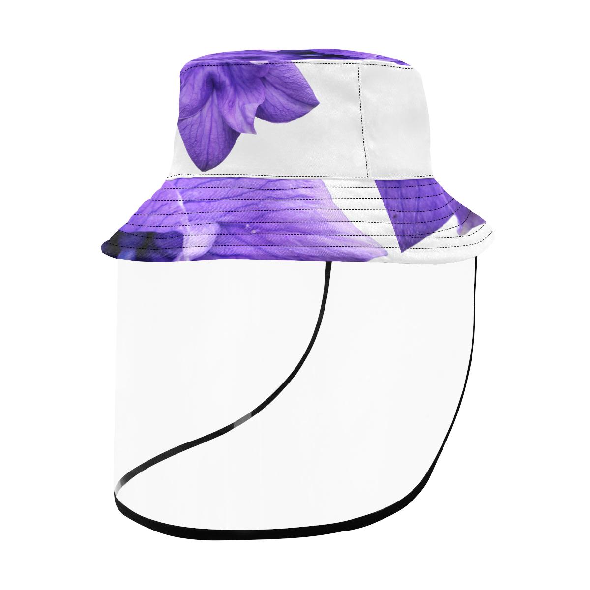 Balloon Flower Women's Bucket Hat (Detachable Face Shield)