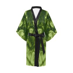 Alien Emerald Green. Kimono Robe
