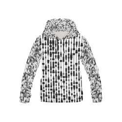 weird block design black and white all over print hoodie for kids All Over Print Hoodie for Kid (USA Size) (Model H13)