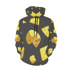 Swiss Cheese All Over Print Hoodie for Women (USA Size) (Model H13)