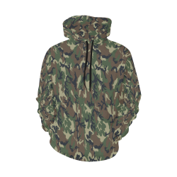 Woodland Forest Green Camouflage All Over Print Hoodie for Women (USA Size) (Model H13)