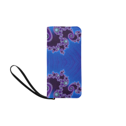 Blue Hearts and Lace Fractal Abstract 2 Women's Clutch Purse (Model 1637)