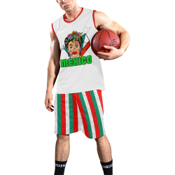 Mexico by Nico Bielow All Over Print Basketball Uniform