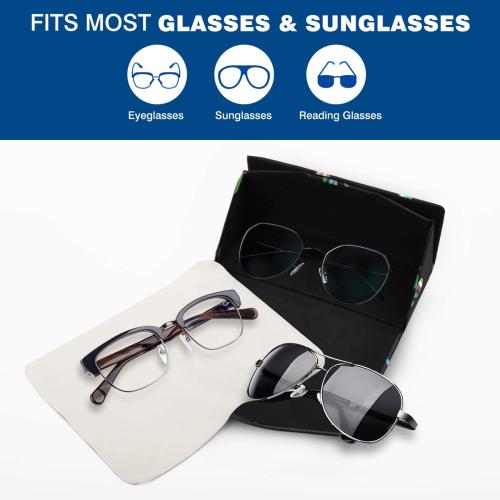 Rainbow Polka Custom Foldable Glasses Case