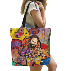 Buddy by Nico Bielow All Over Print Canvas Tote Bag/Large (Model 1699)