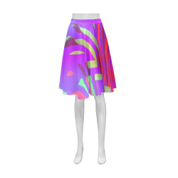 Colorful Tribal Pattern Athena Women's Short Skirt (Model D15)