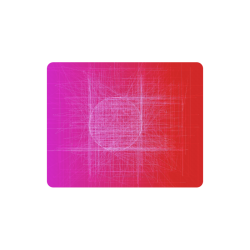 Hot Mess, Red, Pink and Purple Retro Glitch Rectangle Mousepad