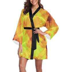 Geo abstract 1 Long Sleeve Kimono Robe