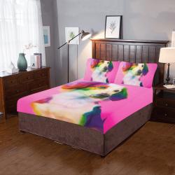 Coloful Dog 3-Piece Bedding Set