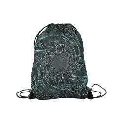 """Blue Hypnosis Medium Drawstring Bag Model 1604 (Twin Sides) 13.8""""(W) * 18.1""""(H)"""