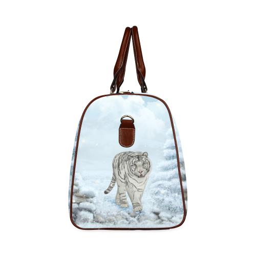 Wonderful siberian tiger Waterproof Travel Bag/Small (Model 1639)