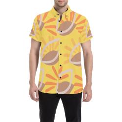Abstract Fiesta Shirt Men's All Over Print Short Sleeve Shirt (Model T53)