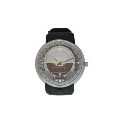 artificial horizon for geek pilots Men's Resin Strap Watch(Model 307)