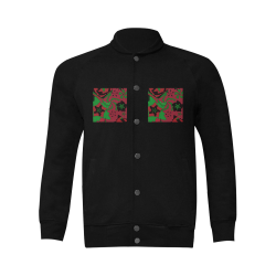 Red, Green and Black Abstract 2020 Men's Baseball jacket (Model H12)