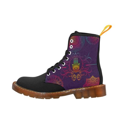 Hamsa Colorful Mandala Martin Boots For Men Model 1203H