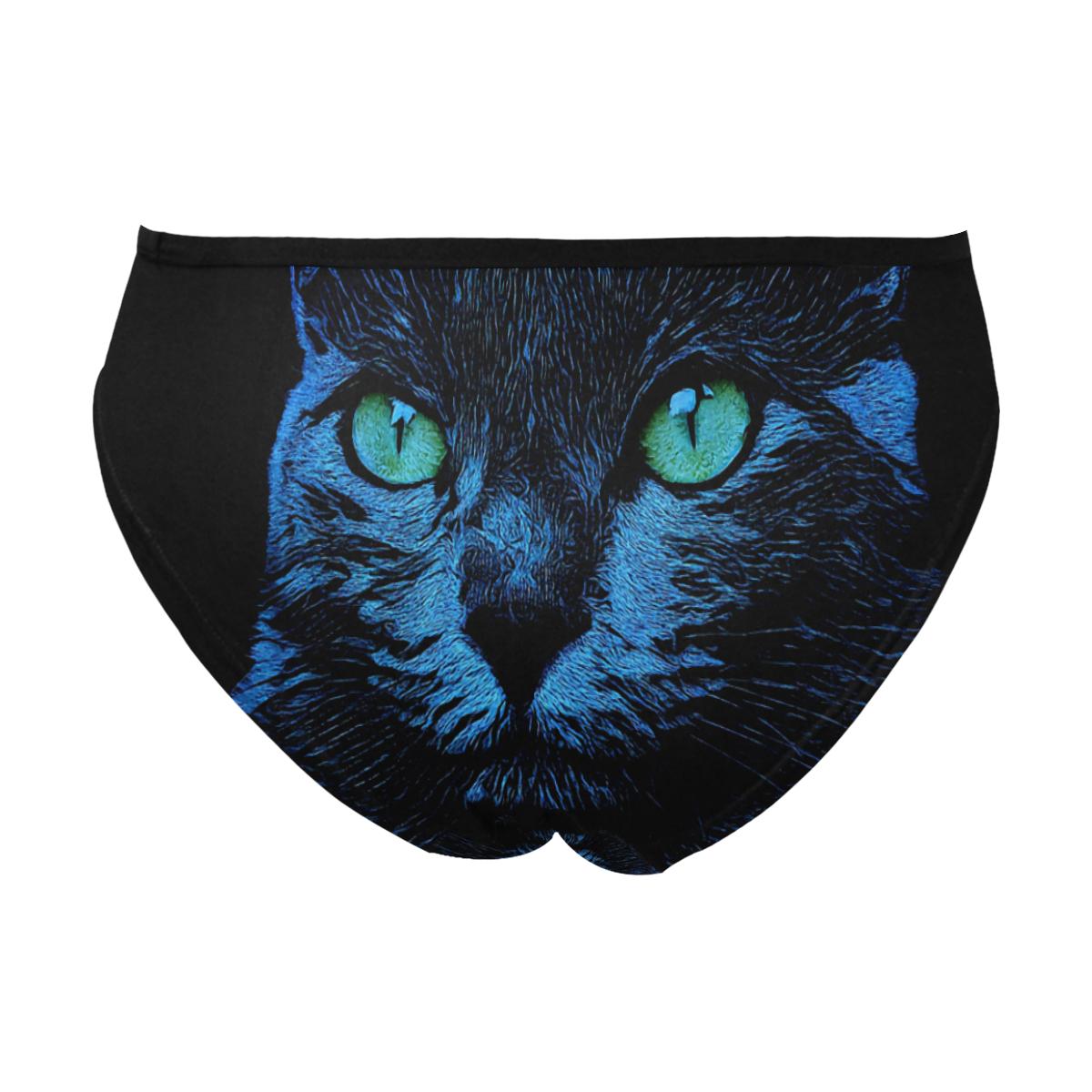 BLUE CAT GRACE Women's Bikini Briefs (Model L25)
