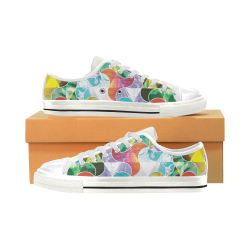 Pinwheel Kaleidoscope Women's Classic Canvas Shoes (Model 018)