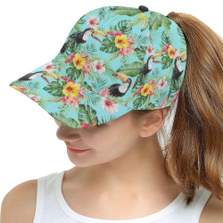 Tropical Toucan All Over Print Snapback Hat D