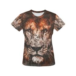 lion jbjart #lion All Over Print T-Shirt for Women (USA Size) (Model T40)