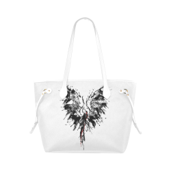 Phoenix - Abstract Painting Bird Black 1 Clover Canvas Tote Bag (Model 1661)