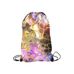 "Colorful Marble Design Small Drawstring Bag Model 1604 (Twin Sides) 11""(W) * 17.7""(H)"