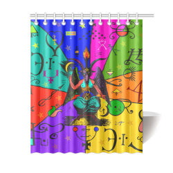 """Awesome Baphomet Popart Shower Curtain 60""""x72"""""""