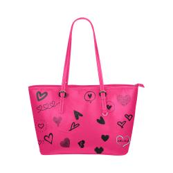 FF 'Walking Memorial' Pink Leather Tote Bag/Large (Model 1651)