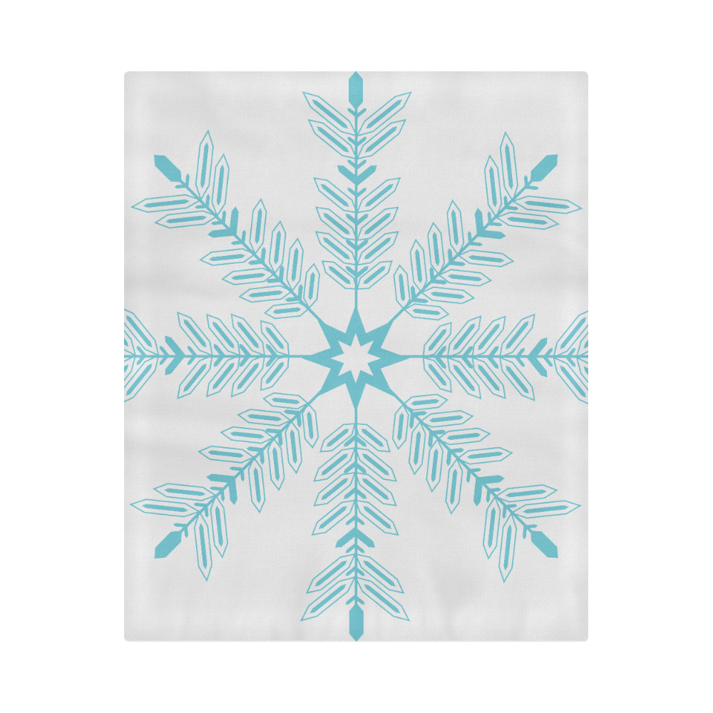 "Snowflake Duvet Cover 86""x70"" ( All-over-print)"