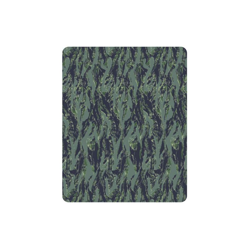 Jungle Tiger Stripe Green Camouflage Rectangle Mousepad