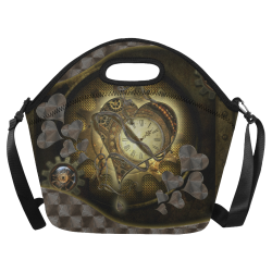 Awesome steampunk heart Neoprene Lunch Bag/Large (Model 1669)