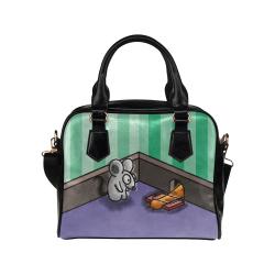 Dumb Cat Shoulder Handbag (Model 1634)