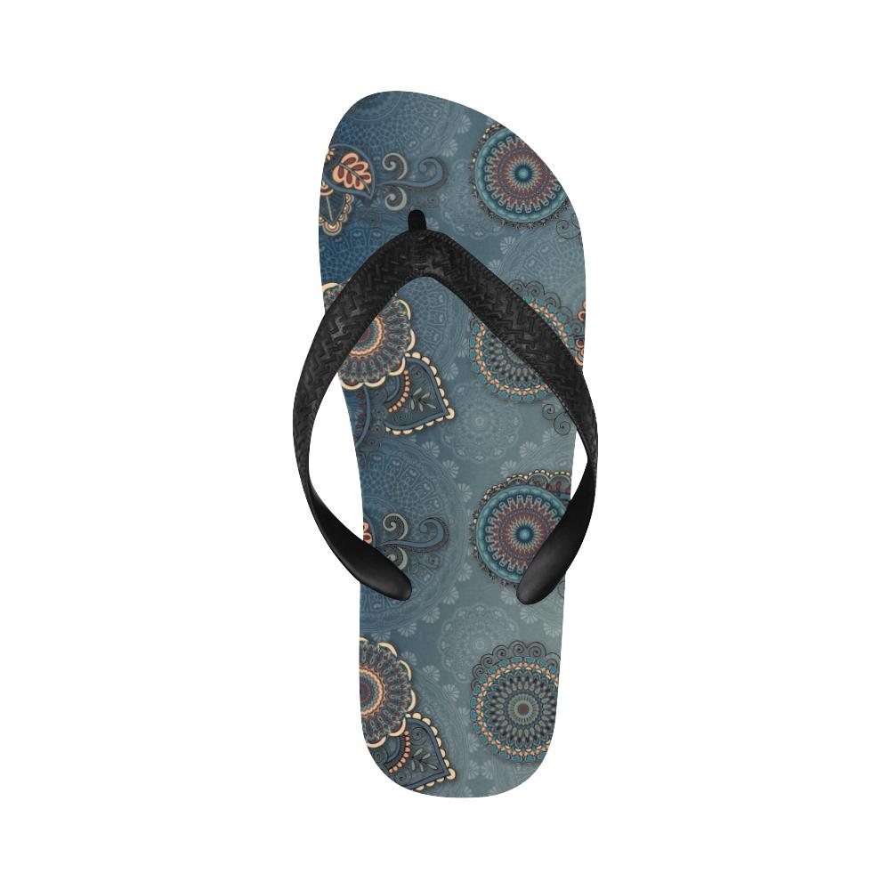 Mandalas Flip Flops for Men/Women (Model 040)