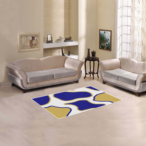 "Terrazzo abstract geometry Area Rug 2'7""x 1'8''"