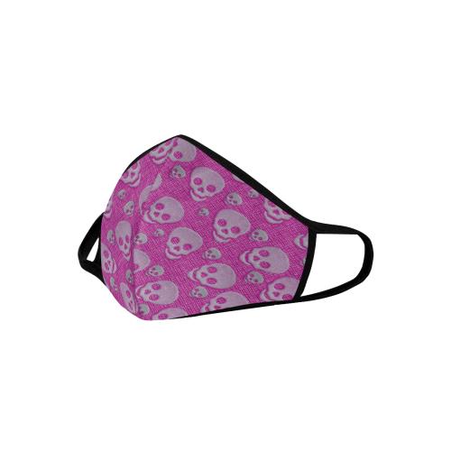 SKULLS PINK 3D MASK 3D Mouth Mask (Model M03)