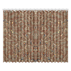 """70s chic moire 4 Window Curtain 52""""x84""""(Two Pieces)"""