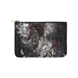 Aweswome steampunk horse with wings Carry-All Pouch 9.5''x6''